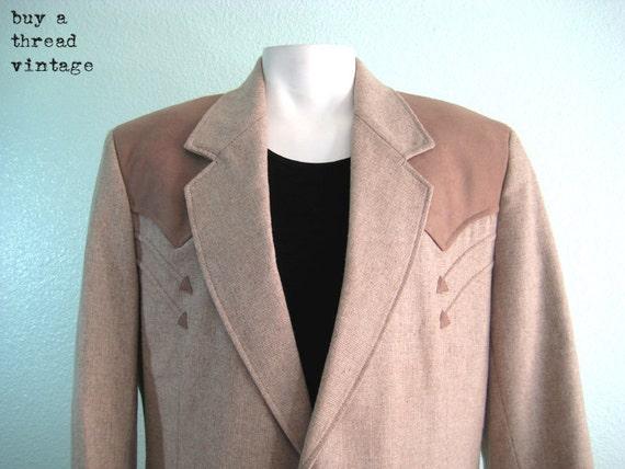 Vintage 70s Camel Pioneer Wear Western Jacket