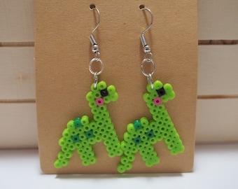 Cute Dino 8-Bit Pixel Earrings
