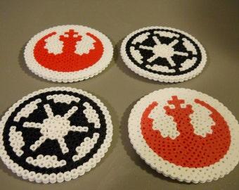 Set of 4 Star Wars Imperial & Rebel Coasters