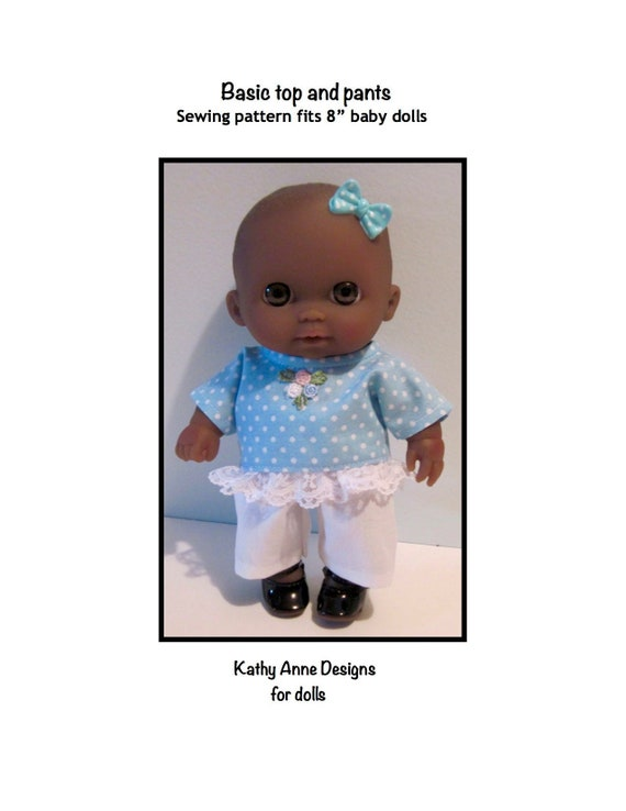 Basic Top And Pants Pattern Fits 8 Baby Dolls Such As Etsy