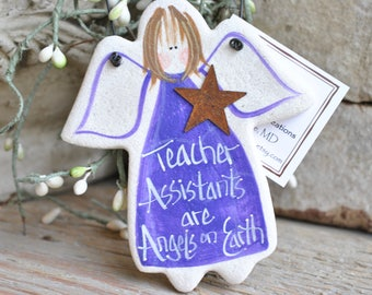 Teacher Assistants Salt Dough Angel Ornament