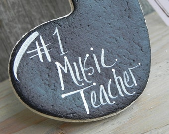Music Teacher Gift Hanging Salt Dough Ornament Xmas Gift Blank or Inscribed