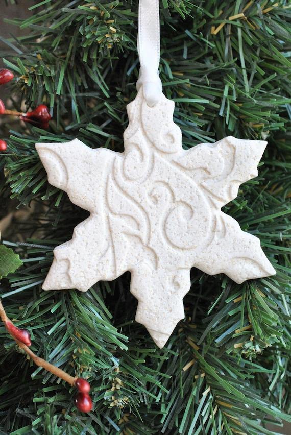 Snowflake Salt Dough Christmas Tree Ornament