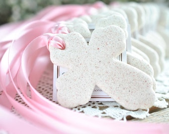Cross Baptism Gifts Salt Dough Ornaments Set of 10 Favors
