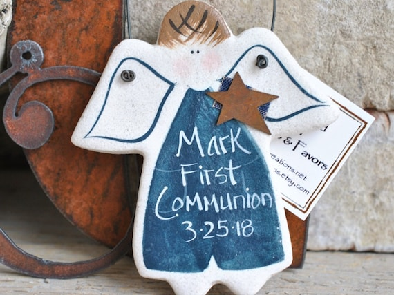 first communion gift personalized salt dough ornament etsy