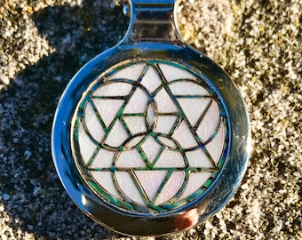 Synchronicity abalone and pearl pendant