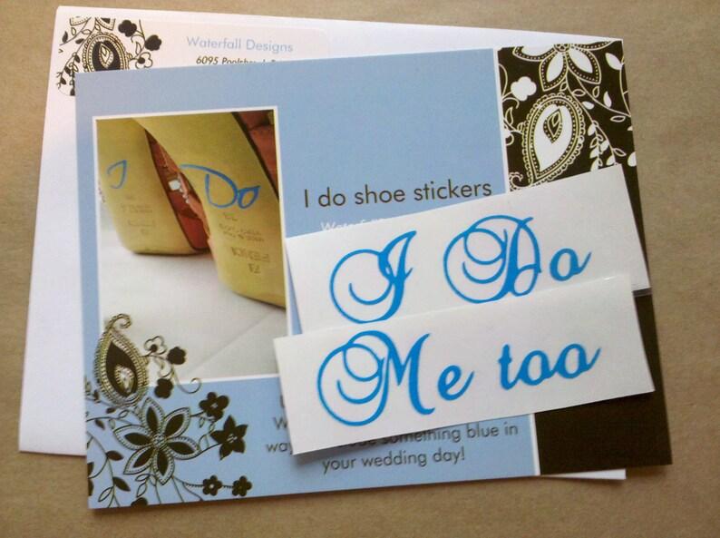 332377cb2 I Do Me too shoe sticker for Bride and Groom wedding shoes.