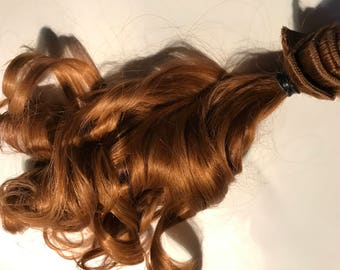 Light Golden Auburn Brown 100% Remy Human Hair Clip in or Tape Hair Extensions Set Custom Length and Color Choices