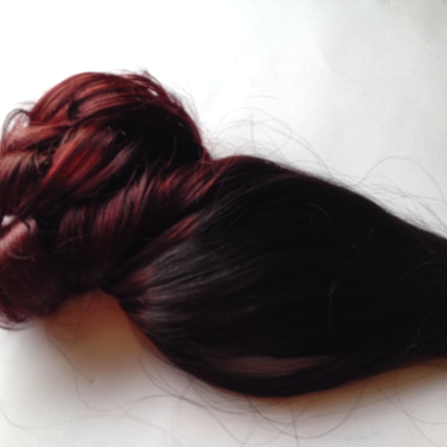 Ombre Hair Extensions Black To Dark Red Mahogany Burgundy Clip Etsy
