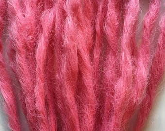 Cupcake Pink Knotty Dreads 20 SE Single Ended Pastel Bubblegum Pink Dreadlocks Natural Hair Extensions