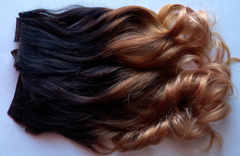 14 Inch Ombre Dark Brown Black Brown Auburn Blonde Clip Fade Etsy