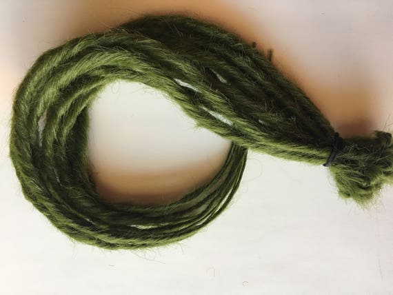 Ready To Ship Olive Army Green Drab Dreads 10 Single Ended Etsy