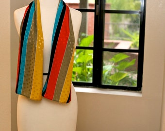 Enzaly Multi-Color 100% High Quality Silk Scarf