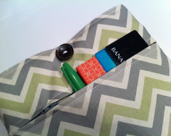 iPad Case  -  Zippered Front Pocket - Chevron