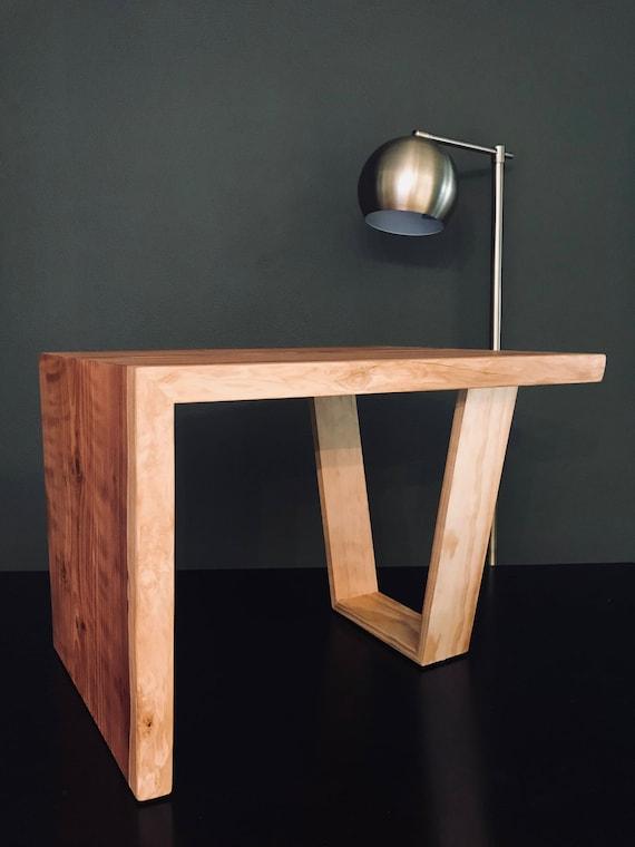 Redwood Slab Side Table Coffee Table Occassional Table Etsy - Redwood side table