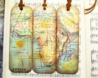 Map bookmark etsy africa map bookmarks set of 3 historical africa old map bookmark gifts for men map lovers gifts for him map collectors travelers map lovers gumiabroncs Image collections