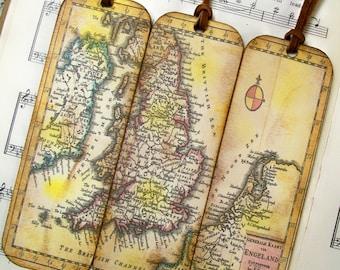 World map bookmarks etsy scotland kingdom of england wales ireland netherlands historical map bookmarks set of 3 old world 1706 map history lovers map gift gumiabroncs Image collections