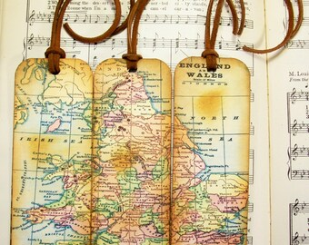 World map bookmarks etsy england wales map bookmark circa 1935 old world map gifts for men historical map bookmarks set of 3 map map gifts for him map collectors gumiabroncs Image collections