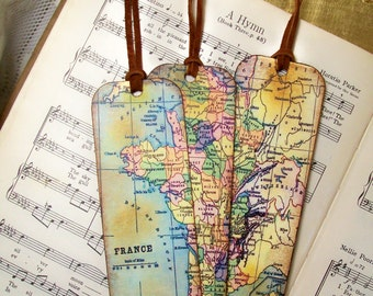 World map bookmarks etsy france map bookmarks historical france set of 3 old world map gifts for men gifts for him map lovers travelers map collectors gumiabroncs Image collections