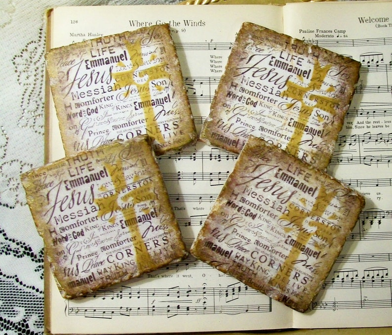 Names of Jesus Coasters