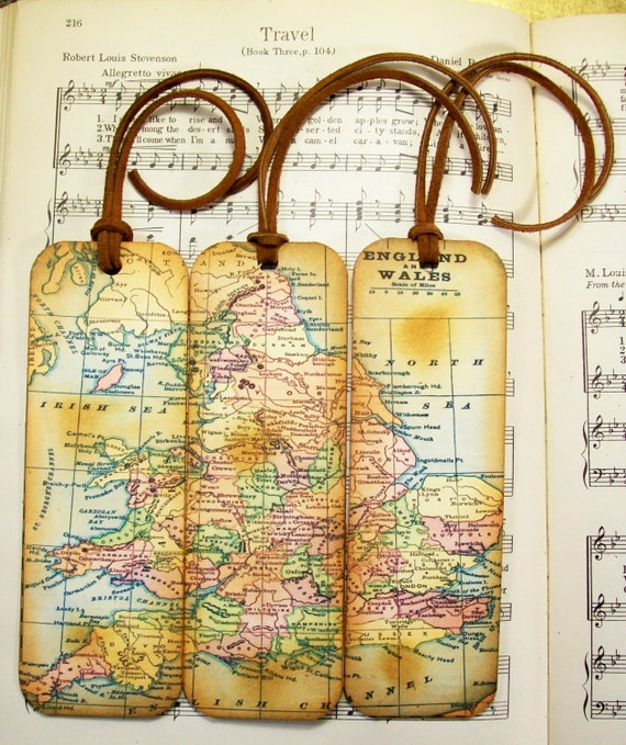 England wales map bookmark circa 1935 old world map gifts etsy image 0 gumiabroncs Choice Image