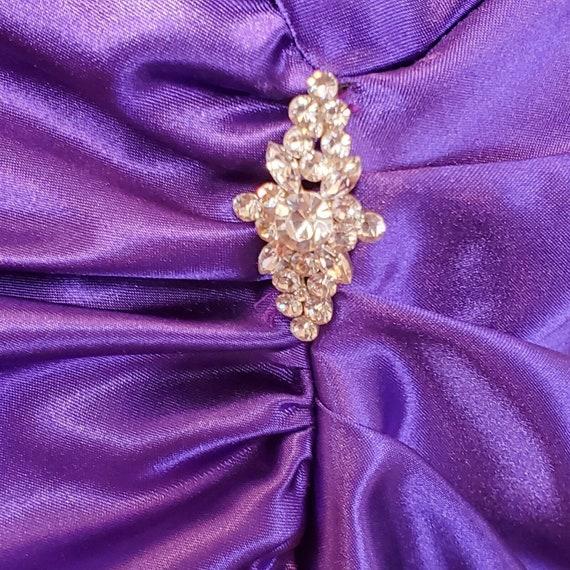 Vintage 80s 90s Gunne Sax Purple Satin Formal Dre… - image 3