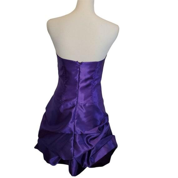 Vintage 80s 90s Gunne Sax Purple Satin Formal Dre… - image 5