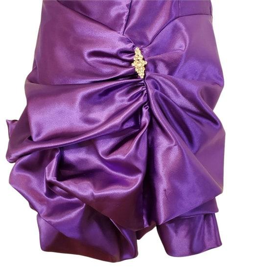 Vintage 80s 90s Gunne Sax Purple Satin Formal Dre… - image 2