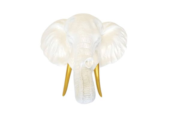 Elephant Head Wall Mount Ivory Elephant Head Wall Mount With Etsy