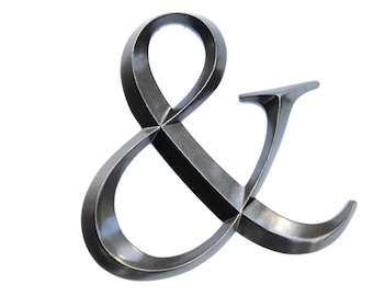 Ampersand Sign in Metallic Black - Large Wall Ampersand - Wedding Decor - Gallery Wall Decor - Photo Prop - Anniversary Gift AND12
