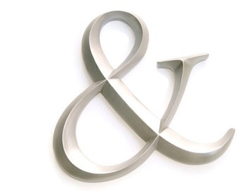 Silver Ampersand Sign - Large Wall Ampersand - Wedding Decor - Gallery Wall Decor - Photo Prop - Anniversary Gift AND10