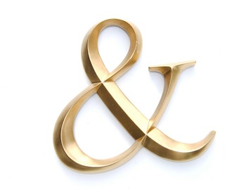 Gold Ampersand Sign - Large Wall Ampersand - Wedding Decor - Gallery Wall Decor - Photo Prop - Anniversary Gift AND08