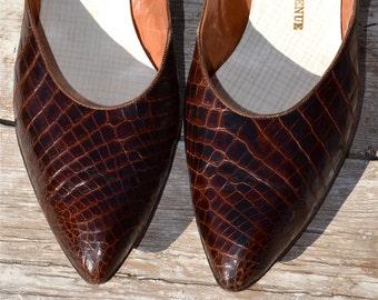 ed643784ee225 Brown vintage heels | Etsy