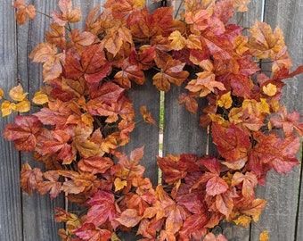 Fall Wreaths, Leaf Wreaths, Wreaths for fall, Halloween Thanksgiving wreath, Wreaths for door, Wreaths Autumn Wreath, Harvest Wreath