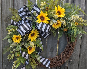 Spring / Summer Wreath, Sunflower Wreath