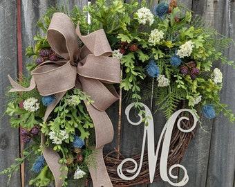 Wreaths for Front Door, Everyday Wreath, Wreath for Front Door, Etsy Wreaths, Birthday Gift, Farmhouse Decor, Wreaths, Easter Decor
