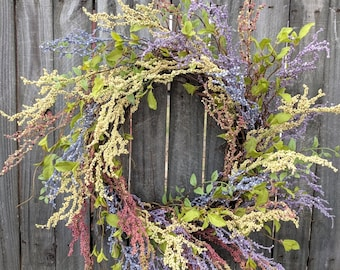 Spring Door Wreath, Berry Wreath, Spring Easter Wreath,  Mother's Day Gift, Grapevine Wreath, Door Wreath, Front Door Wreath, Large Wreath