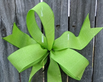 Wreath Bow, Lime Green Wreath Bow, Spring Wreath Bow, Summer, Christmas Bow for Wreath, Green Messy Bow, Lantern, Lantern Bow