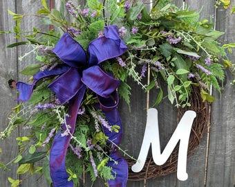 Lavender Spring Wreath