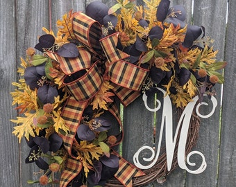 Fall Wreath, Fall Door Wreath, Fall Wreaths,  Fall, Front Door Wreath, Etsy Wreath