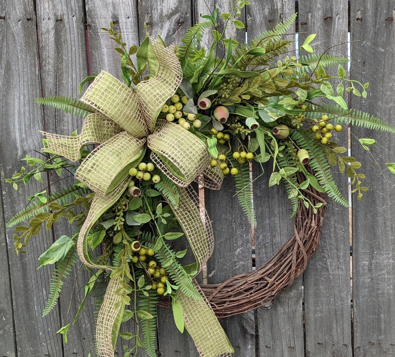 Everyday Wreath Everyday Pod and Burlap Wreath Spring image 0