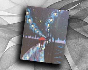 Lamplit Love - print