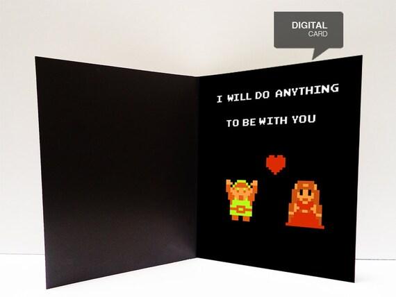 Zelda Valentine S Day Love Printable Card Etsy