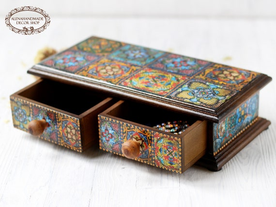 Get 1 free Buy 2 Talavera jewelry box Heart Keepsake Jewelry Box talavera