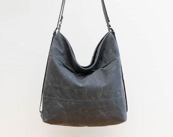 Waxed canvas convertible bag, diaper bag, convertible backpack Grey