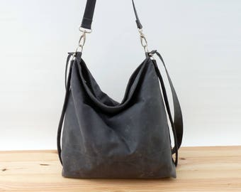 Waxed canvas bag / Convertible bag / Diaper backpack / Diaper bag / Hobo bag / Messenger bag / Convertible backpack
