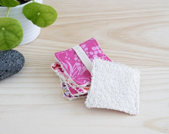Reusable organic cotton wipes, set of 5 washable makeup remover pads