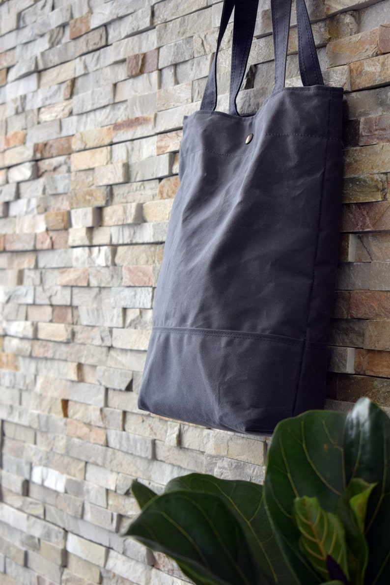 Shopping and commute bag Tote Basic Grey Waxed canvas Tote bag