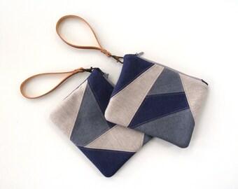 Clutch Mosaic, zippered purse