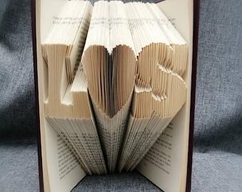 PERSONALISED folded book art